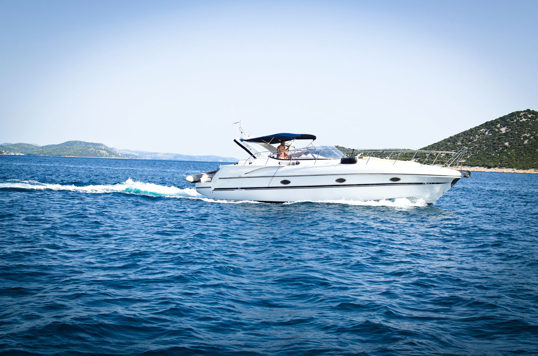 yacht boat sailing on lake